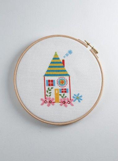 kit maison au point de croix compt berg re de france cartes cadeau broderie tricot achat. Black Bedroom Furniture Sets. Home Design Ideas