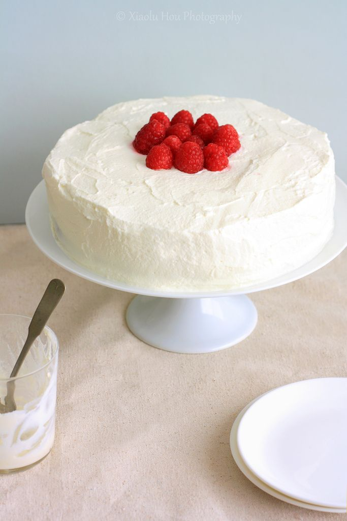 Raspberry Tres Leches Birthday Cake Two Layers Of Cake With A