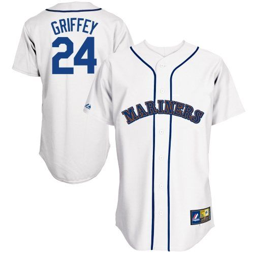 finest selection 60c48 7c775 Majestic Ken Griffey Jr. Seattle Mariners #24 Cooperstown ...