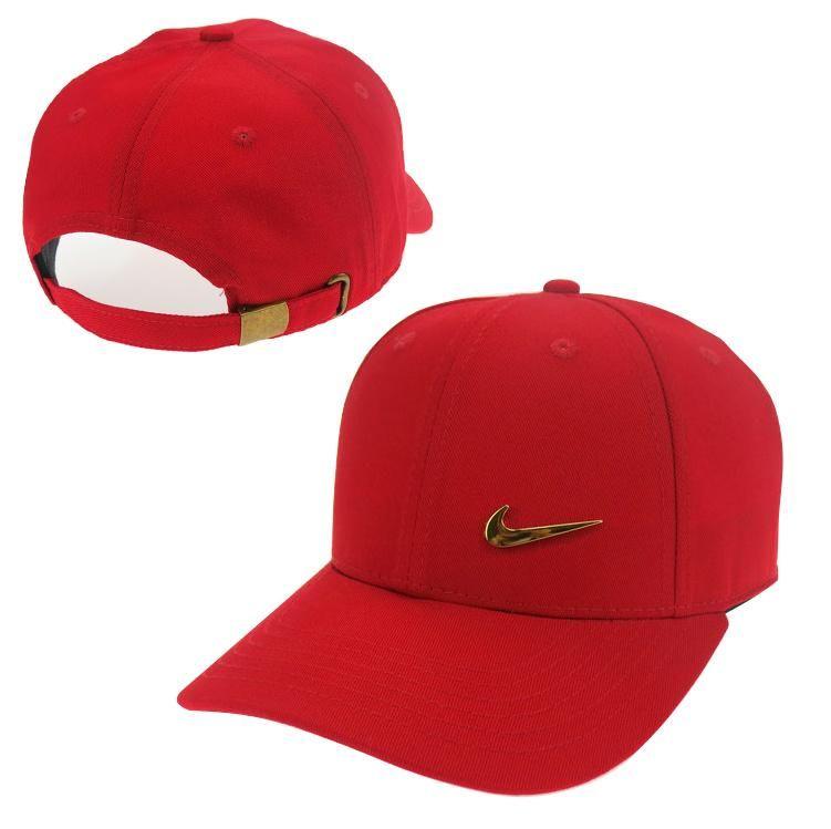 8c3d7784 coupon for nike swoosh metal cap red 6cc07 ad1c4; best price mens womens  unisex nike swoosh gold metal iconic logo strap back baseball adjustable hat
