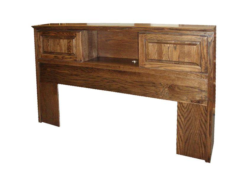 FD 3014T Traditional Oak Bookcase Headboard E Cal King
