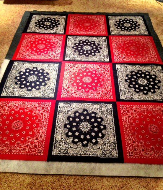 Bandana Picnic Blanket | Patchwork | Pinterest | More Paint ... : red bandana quilt - Adamdwight.com