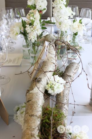 Birch Logs With Floral Accents Perfect For A Contemporary