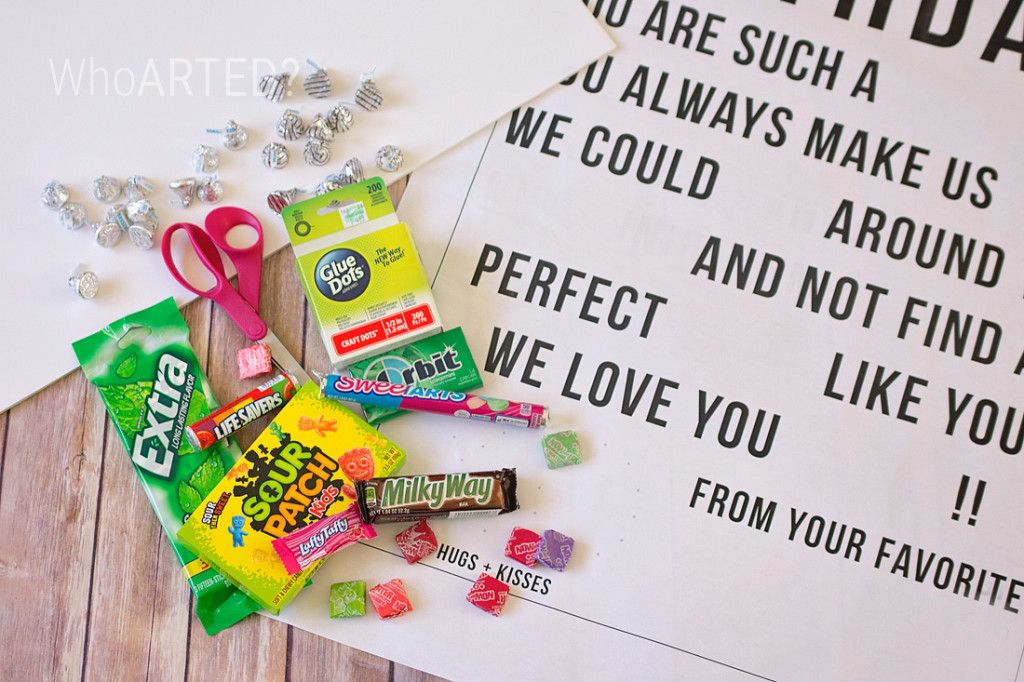 Candy Gram Birthday Card 2 01 Activities Pinterest Candy Grams