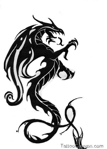 Welsh Dragon Tattoo Designs Tribal Picture 11560 Black Dragon Tattoo Tribal Dragon Tattoos Dragon Tattoo Pictures