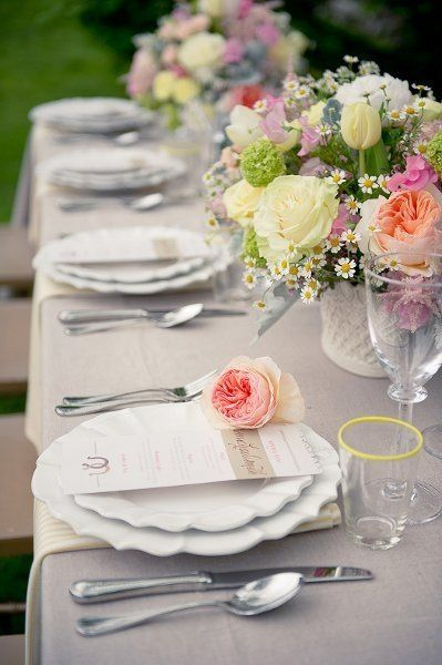 Table & Place Setting Ideas | Pinterest | Place setting, Reception ...