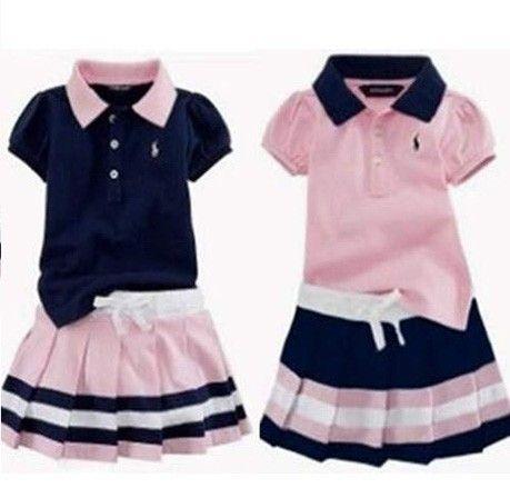 bdf20ee8f ... del diseño de marca de moda ocasional de la muchacha Suitchild de ropa  deportiva chica camiseta + falda 2 unids conjunto de ropa para niños de ropa  para ...