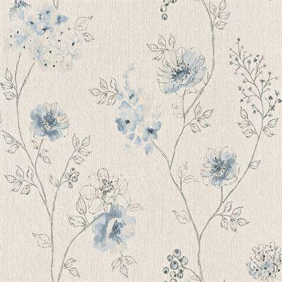 Walls Republic R437 Floral Sketched Dainty Wallpaper