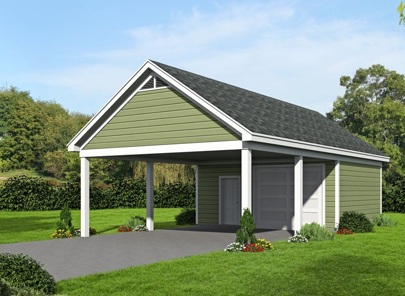 Front of Home from Carport plans