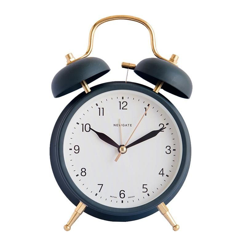 Twin Bell Alarm Clock In Matte Black And Brass 2 Jpg Vintage Alarm Clocks Alarm Clock Clock