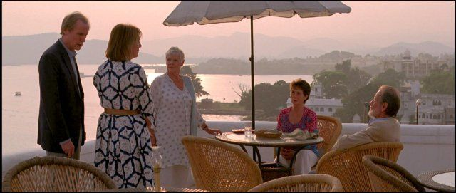 Still of Judi Dench, Celia Imrie, Bill Nighy, Ronald Pickup and Penelope Wilton in The Best Exotic Marigold Hotel