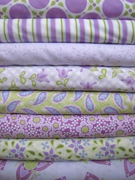 more purple and green fabric