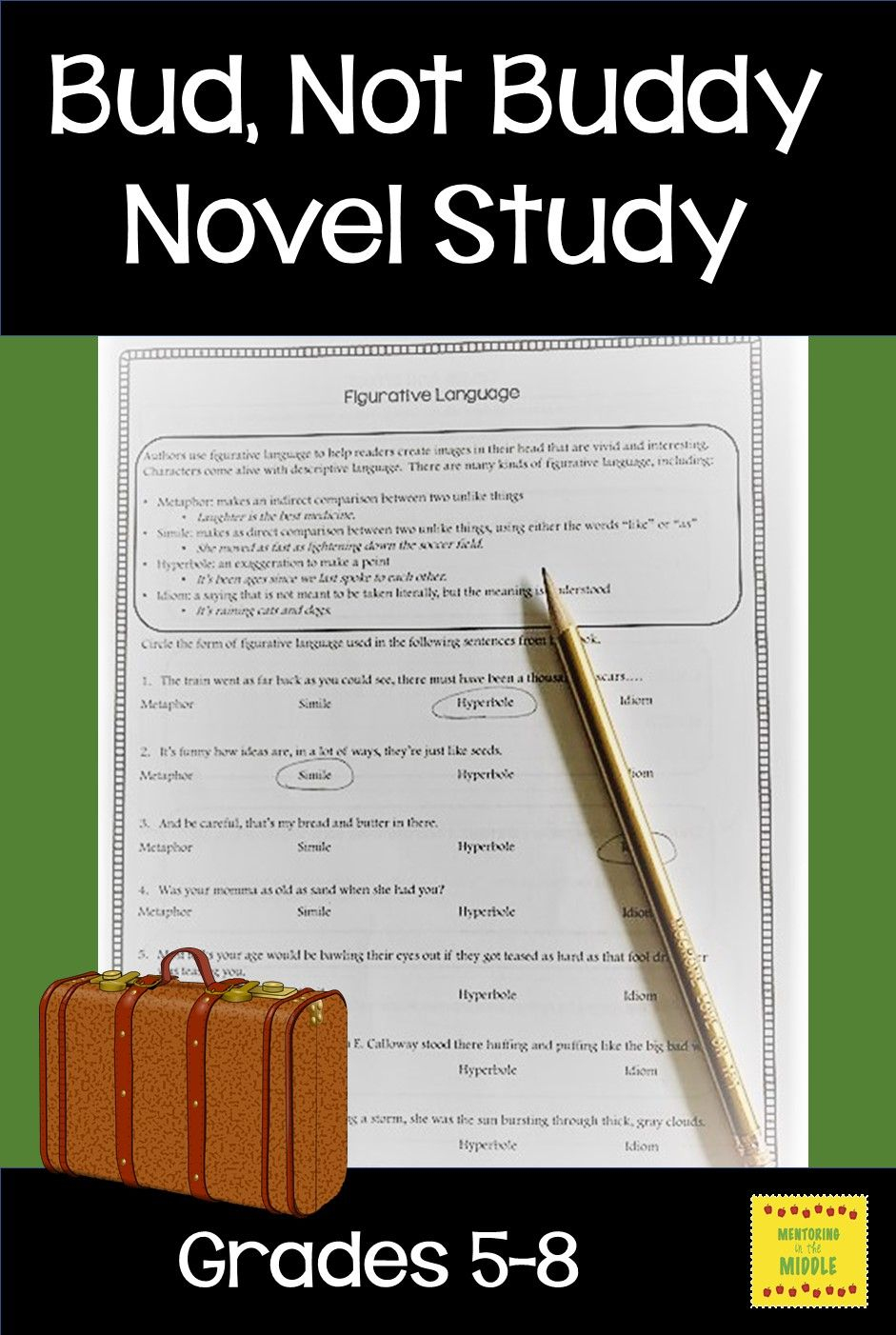 Bud, Not Buddy Novel Study | Mentoring in the Middle | Pinterest