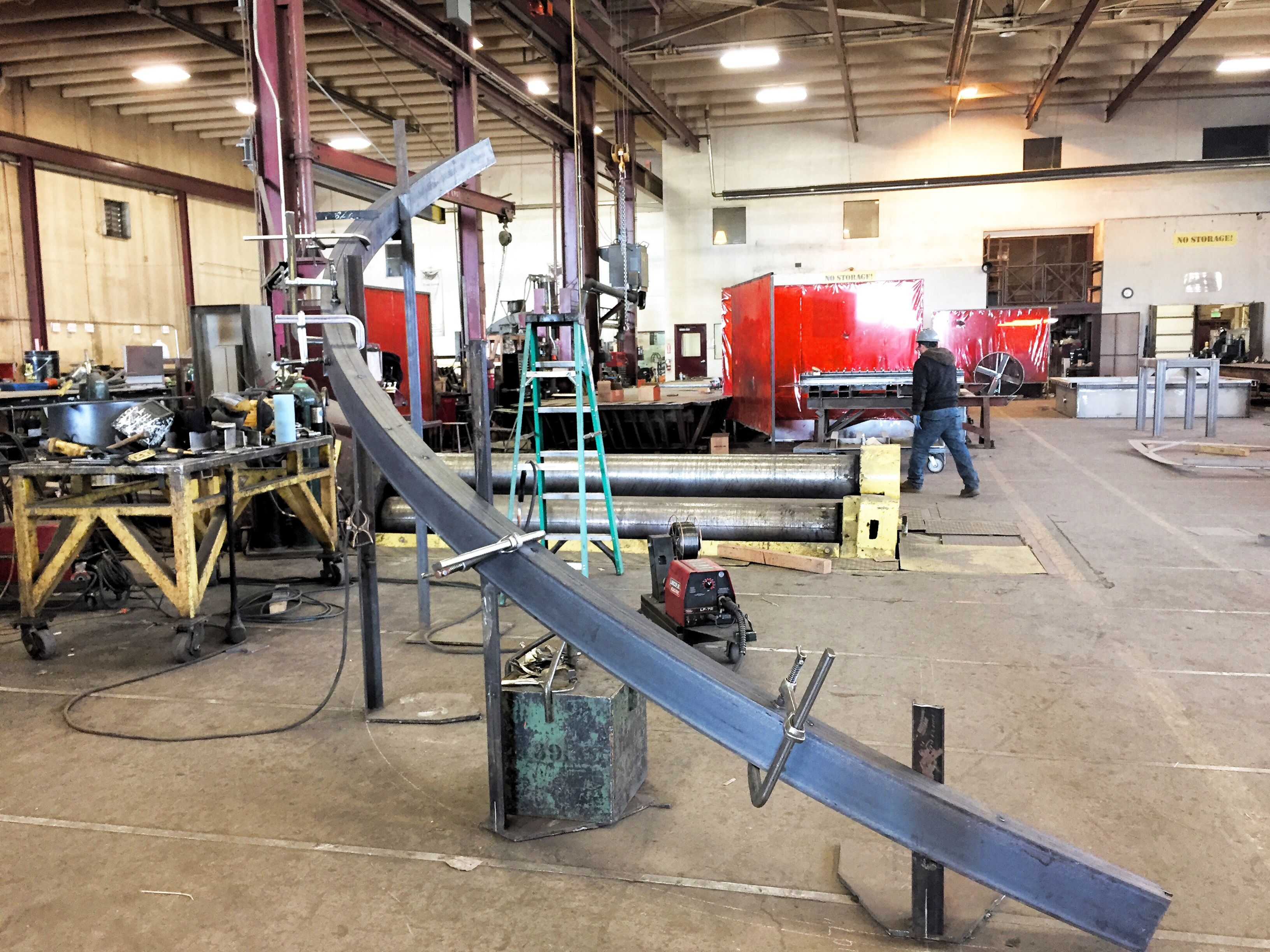 Steel Channel Rolled For Spiral Staircase Stringers. One Is Rolled Flanges  In And One Flanges Out To Mate Up On This Stringer. Rolled At Longero In  Denver, ...