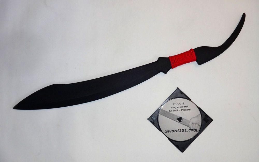 Scimitar Red Practice Swords Martial Arts Pair Training Dual Trainer