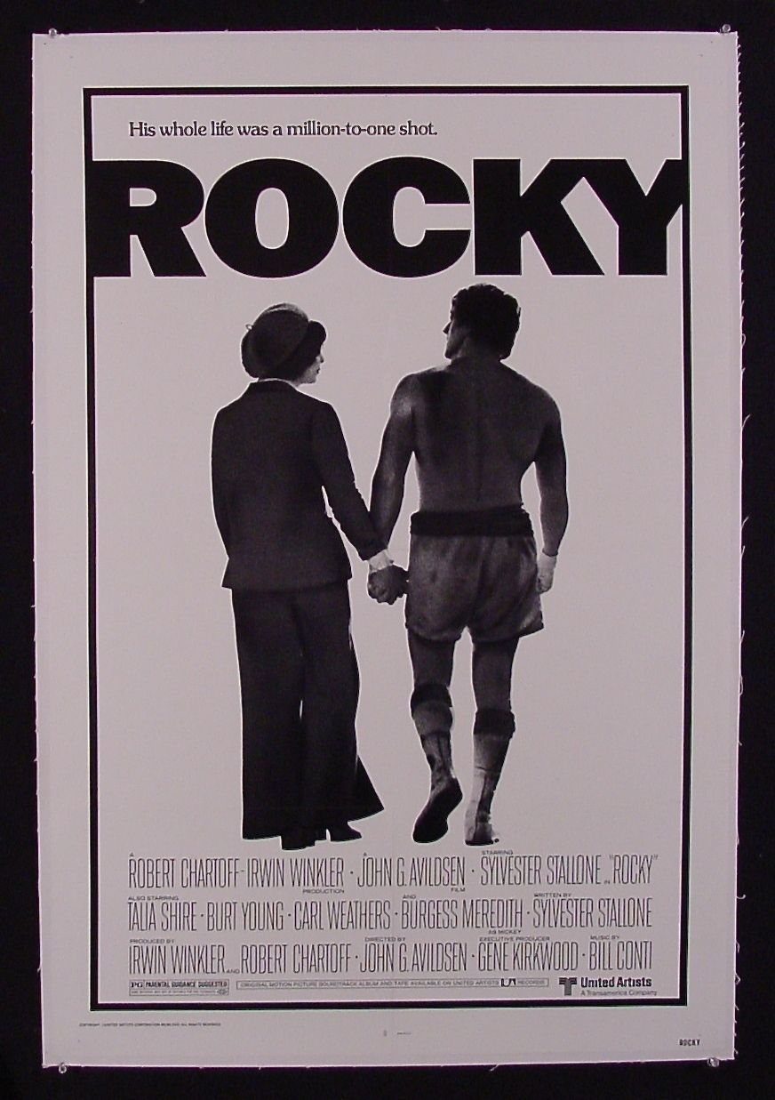 Rocky  Movie Poster x Mint Linen Mounted Museum Investment