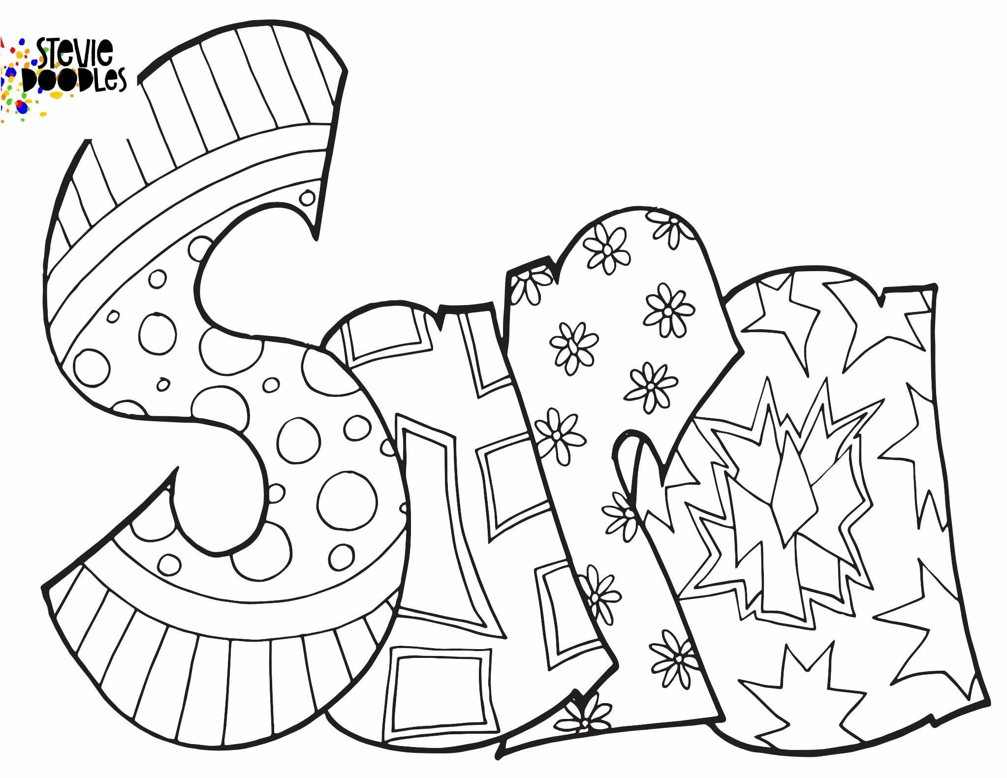 Sara Free Printable Coloring Page Stevie Doodles Free Printable Coloring Free Printable Coloring Pages Coloring Pages