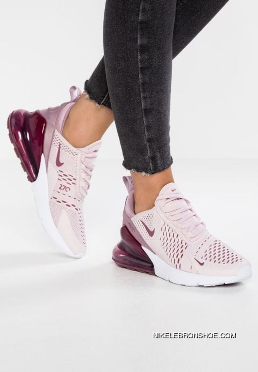 Q16 Women Shoes Nike Air Max 270 Barely Rose Series Heel