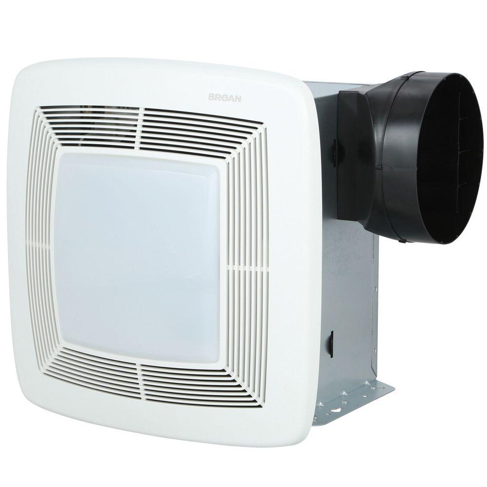 Broan Qt Series Very Quiet 80 Cfm Ceiling Bathroom Exhaust Fan With Light Energy Star Qtxe080flt Bathroom Fan Installation Bathroom Exhaust Fan Bath Fan