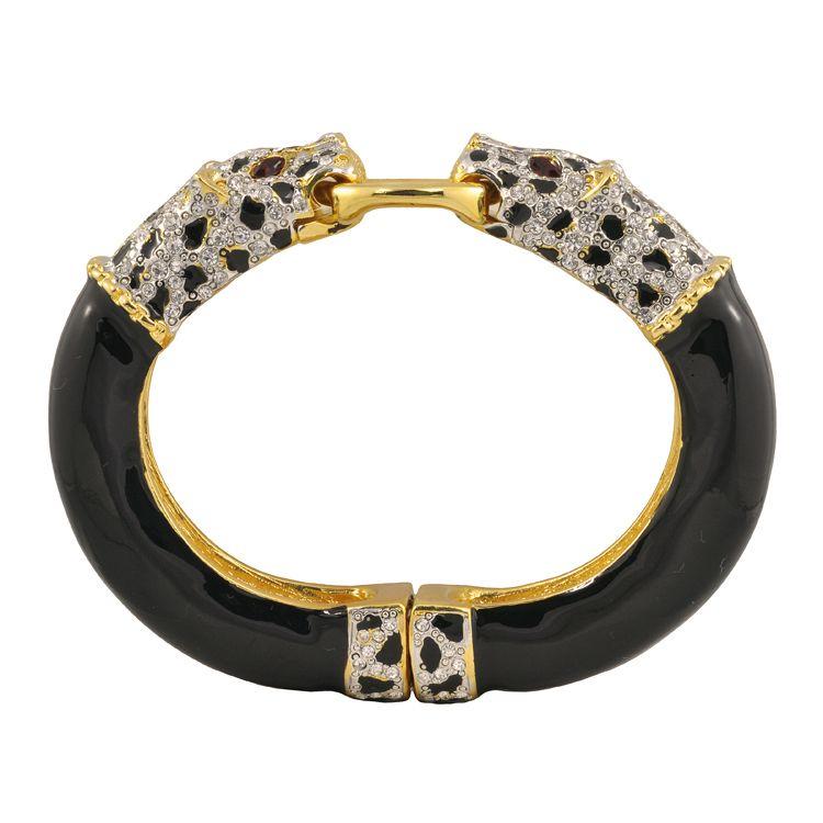 Kenneth Jay Lane Pave Double Leopard Bracelet   SOPHIESCLOSET.COM   Designer Jewelry & Accessories