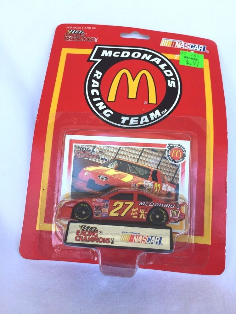 Racing Champions Ford Stock Car #27 Mcdonald's Racing Team Hut Stricklin 1:64 Other Diecast Racing Cars