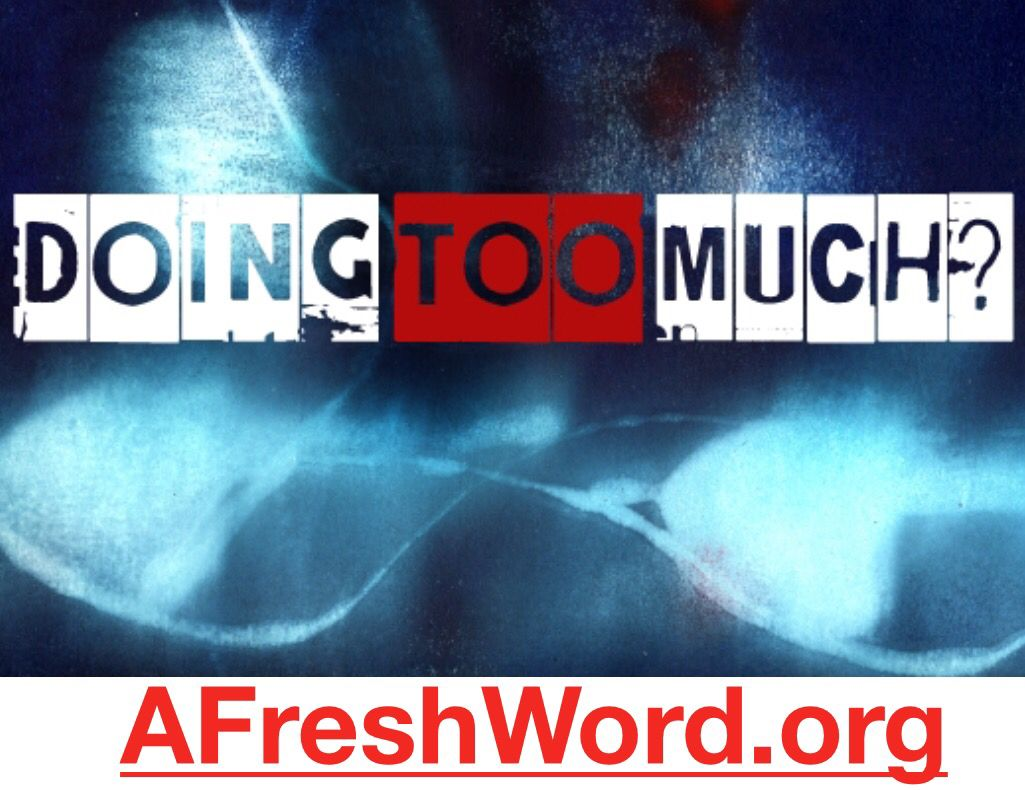 """A Sunday Night AFreshWord.org release!  Title: Doing Too Much  Link: http://afreshword.org/post/130502048853/doing-too-much-a-newold-phrase-popularized-or   Blog Excerpt: A new/old phrase popularized or revamped by ESPN's Jemele Hill and Michael Smith is """"Doing Too Much"""". They even have a """"Doing Too Much"""" Countdown. I love their show and I love this colloquialism. It signifies a lot more than just three words.  Question: Are You Doing To Much?  #hisandhers #jemellehill #michaelsmith #espn #multi"""