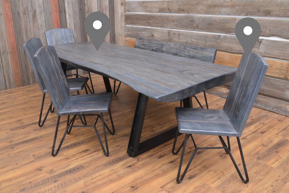 Moro Dining Table Dining Table Live Edge Dining Table Live