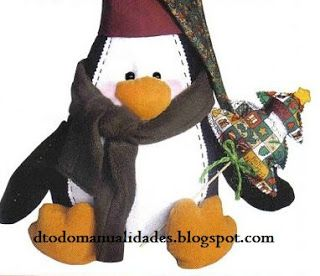 Detodomanualidades: Como hacer un pinguino navideño