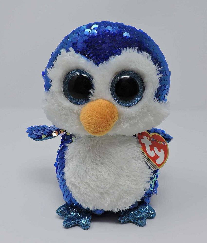 Ty Flippables Payton Penguin Blue Pink Sequins Sparkly 6