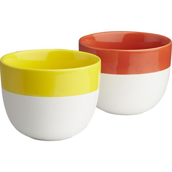 fable yellow cup in dinnerware | CB2