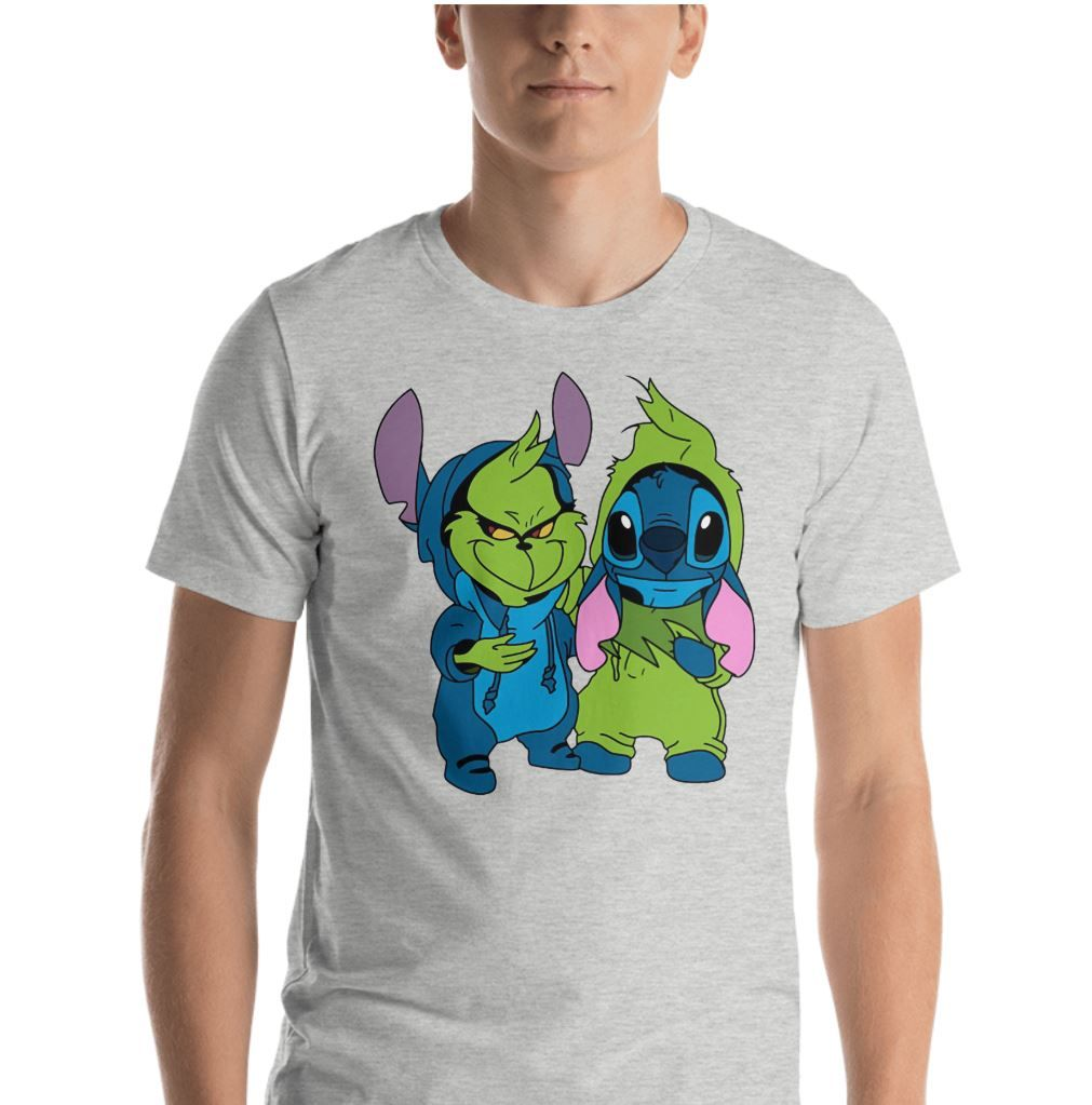 a61d0a057f6b Baby Grinch and Stitch are friend shirt | Animal shirt | Baby grinch ...