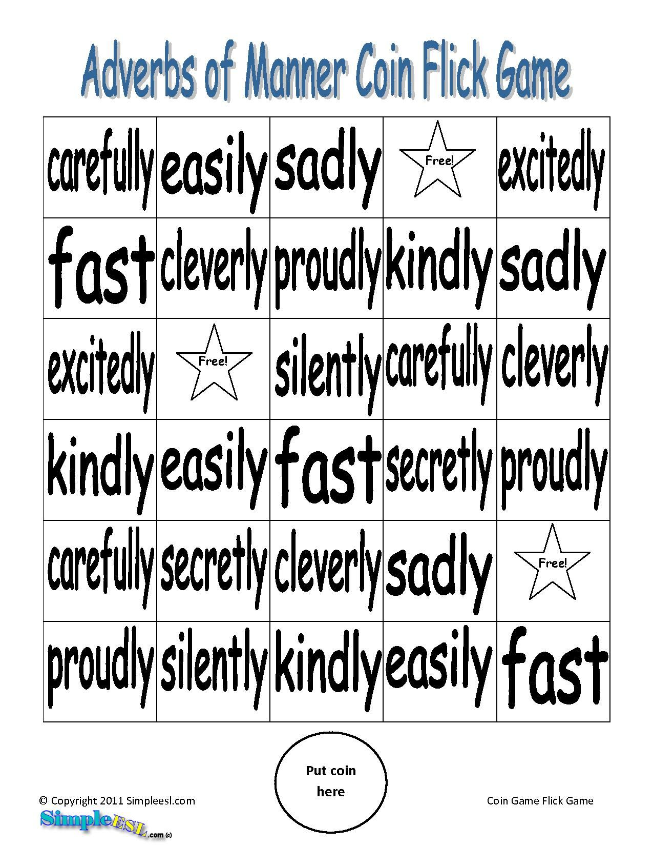 Worksheet Adverb Games For Kids 1000 images about adverbs on pinterest