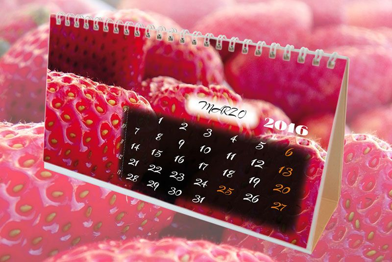 #Calendarios 2016 de sobremesa Modelo #Frutas