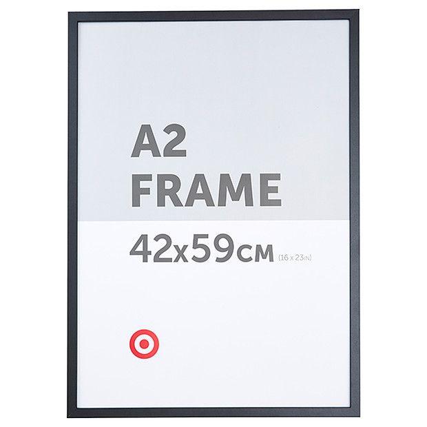 a2 certificate frame black