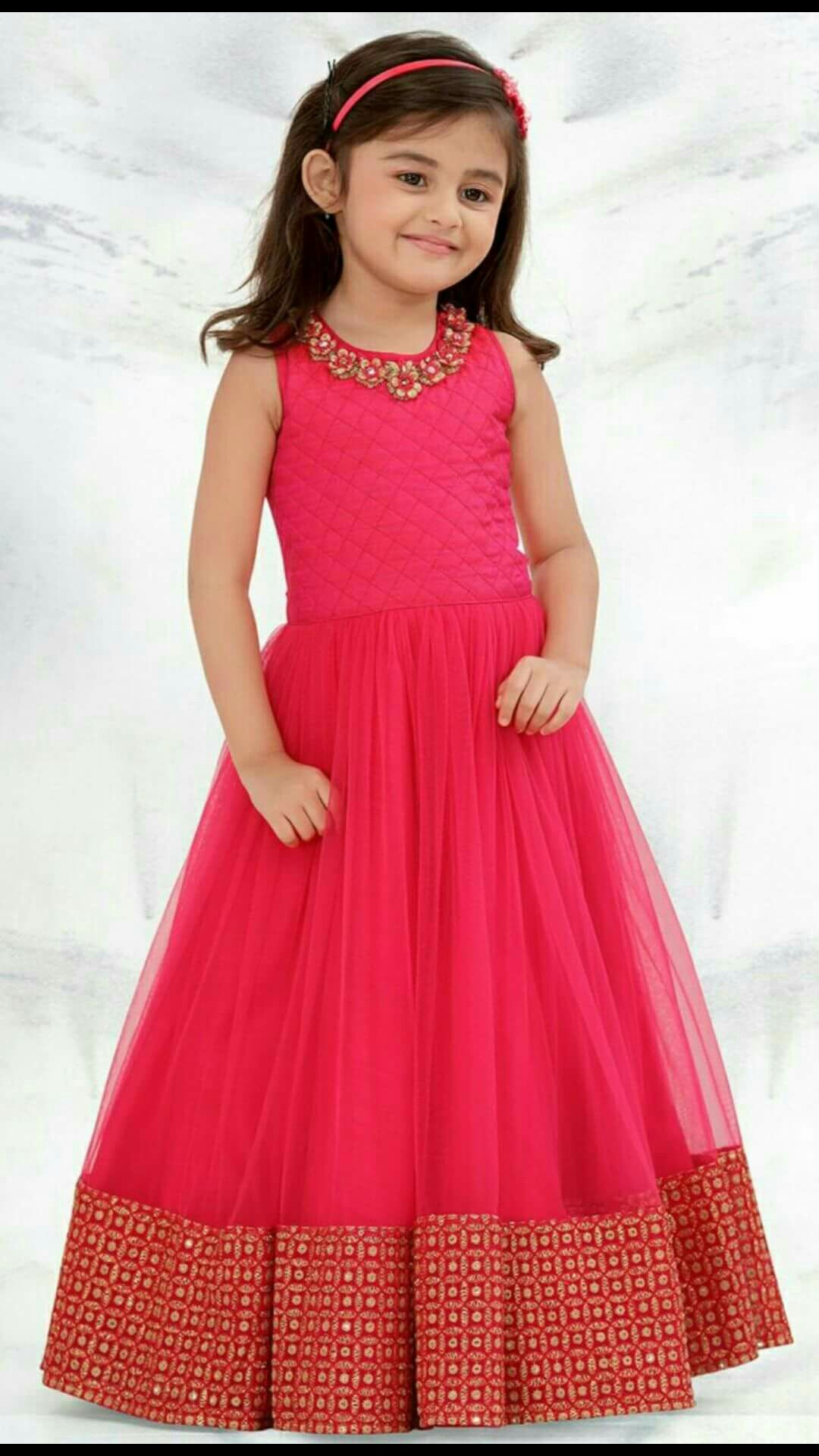 a66ba58783 Frocks | frocks in 2019 | Kids party wear dresses, Gowns for girls ...