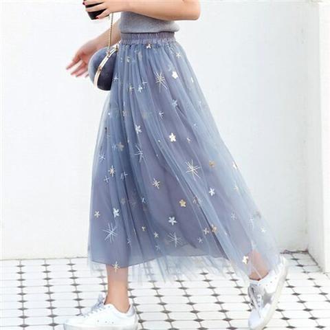 61de6b3e9e778 2018 Spring   Summer Fashion Faldas Korean Style 8 M Big Swing Maxi Skirts  Womens Jupe High Waist Tutu Adult Long Tulle Skirt