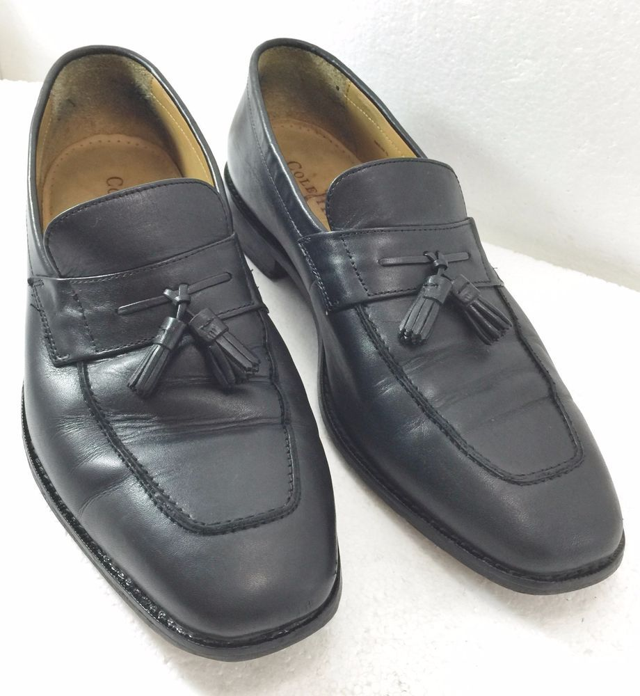 465fb3dc15f Cole Haan Mens 9M Black Tassel Loafers Moccasins Shoes Classic Slip-On   ColeHaan