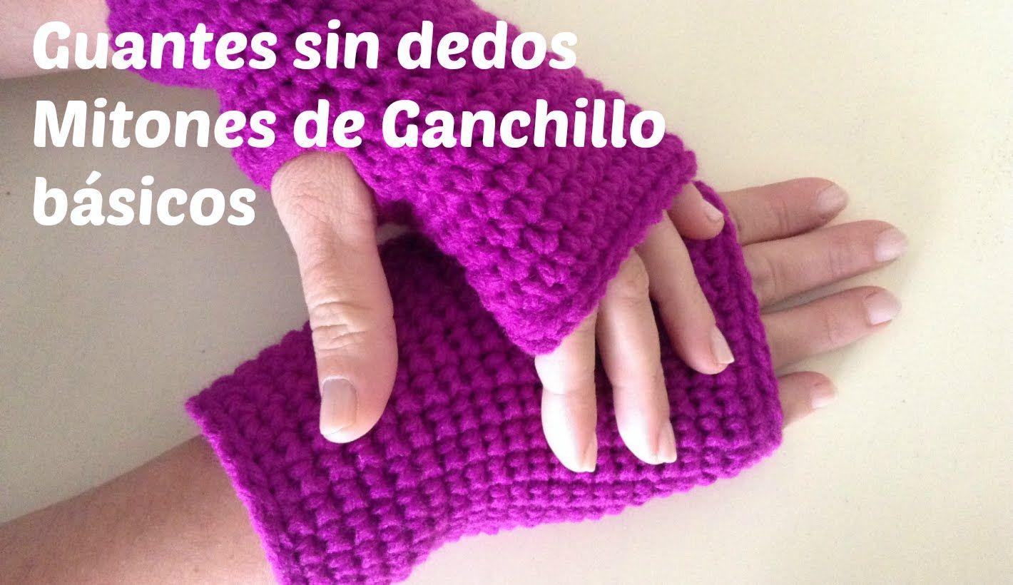 Guantes sin dedos o mitones de crochet paso a paso | knitt and ...