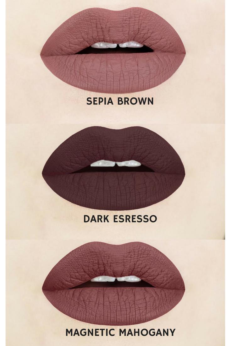 Brown And Nude Liquid Matte Lipsticks  Dark Espresso -4807
