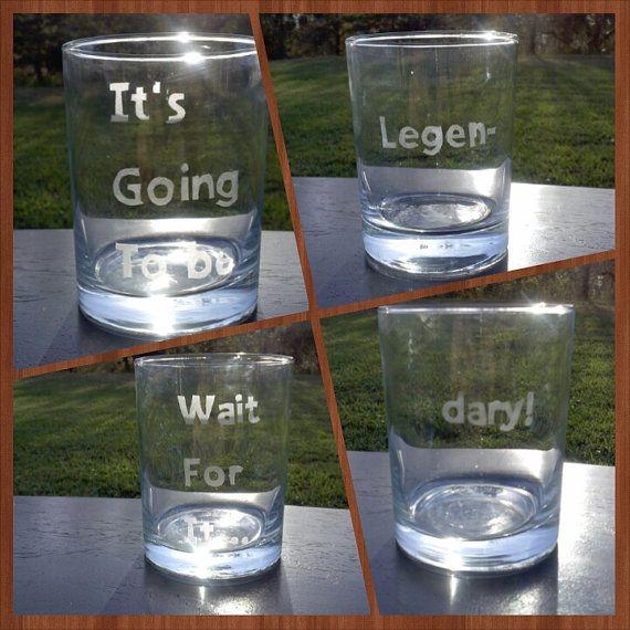 Barney Stinson Legendary Quote Glasses