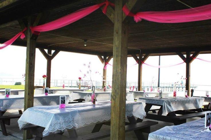 Decorating A Pavilion For A Wedding Reception