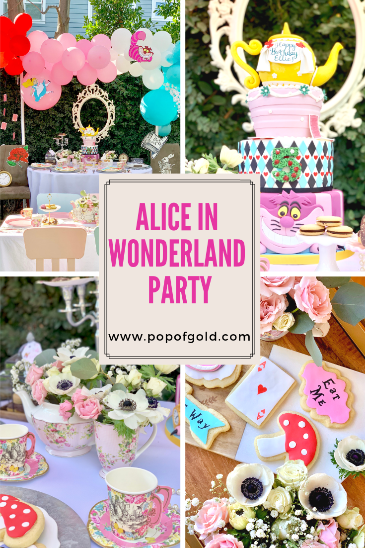 Alice In Wonderland 5th Birthday Party Diy Kids Party