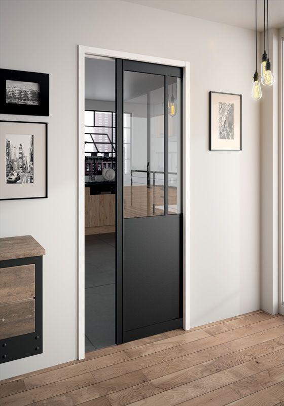 Dressing \ Porte Placard SOGAL  modèle de Porte coulissante - rail porte de placard coulissante