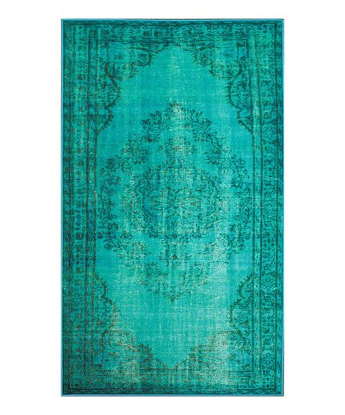 Take a look at the Turquoise Fade Chroma Rug on #zulily today!