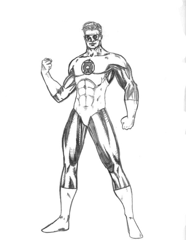 Printable coloring pages - Green Lantern (Superheroes) kids - copy dark knight batman coloring pages