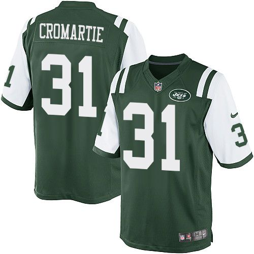 nfl new york jets antonio cromartie youth limited green 31 jerseys