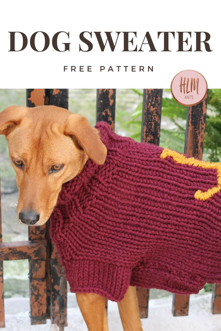 The Mischief Managed Dog Sweater - Free Knitting Pattern | Knitting ...