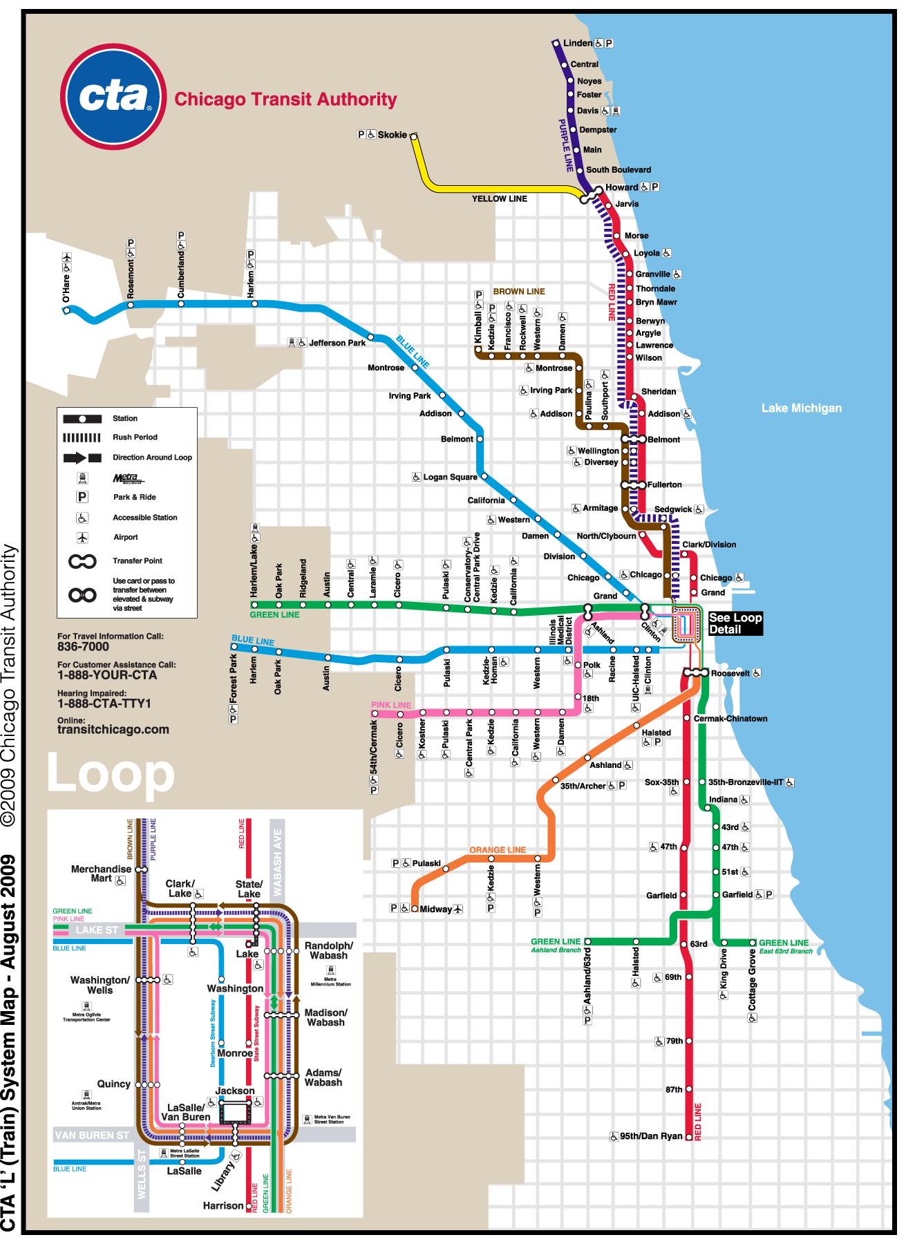Chicago Subway Map