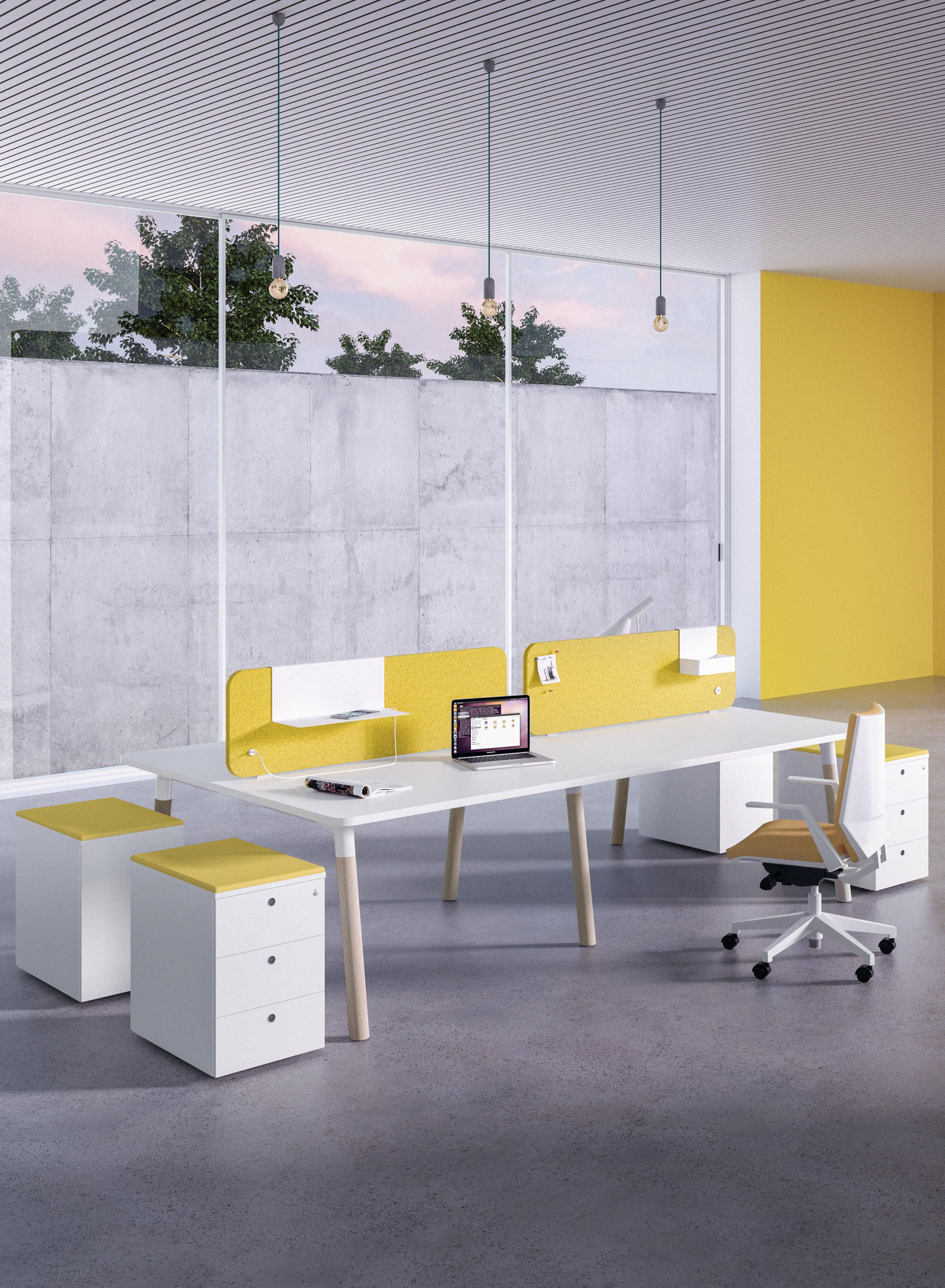 Fleischer Büromöbel Woods 90 Edge Designer Desks From Fantoni Architonic