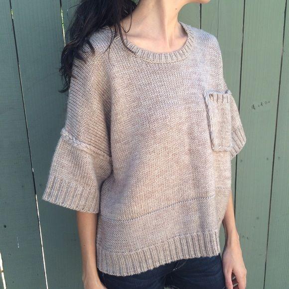 🎉HP🎉 Kerisma tan short sleeve chunky sweater | Scoop neck, Short ...